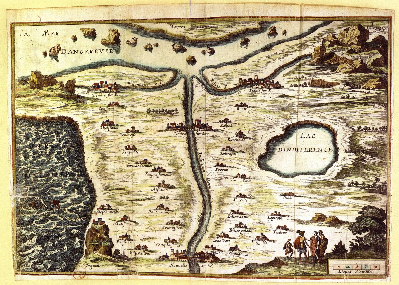 Carte du pays de Tendre