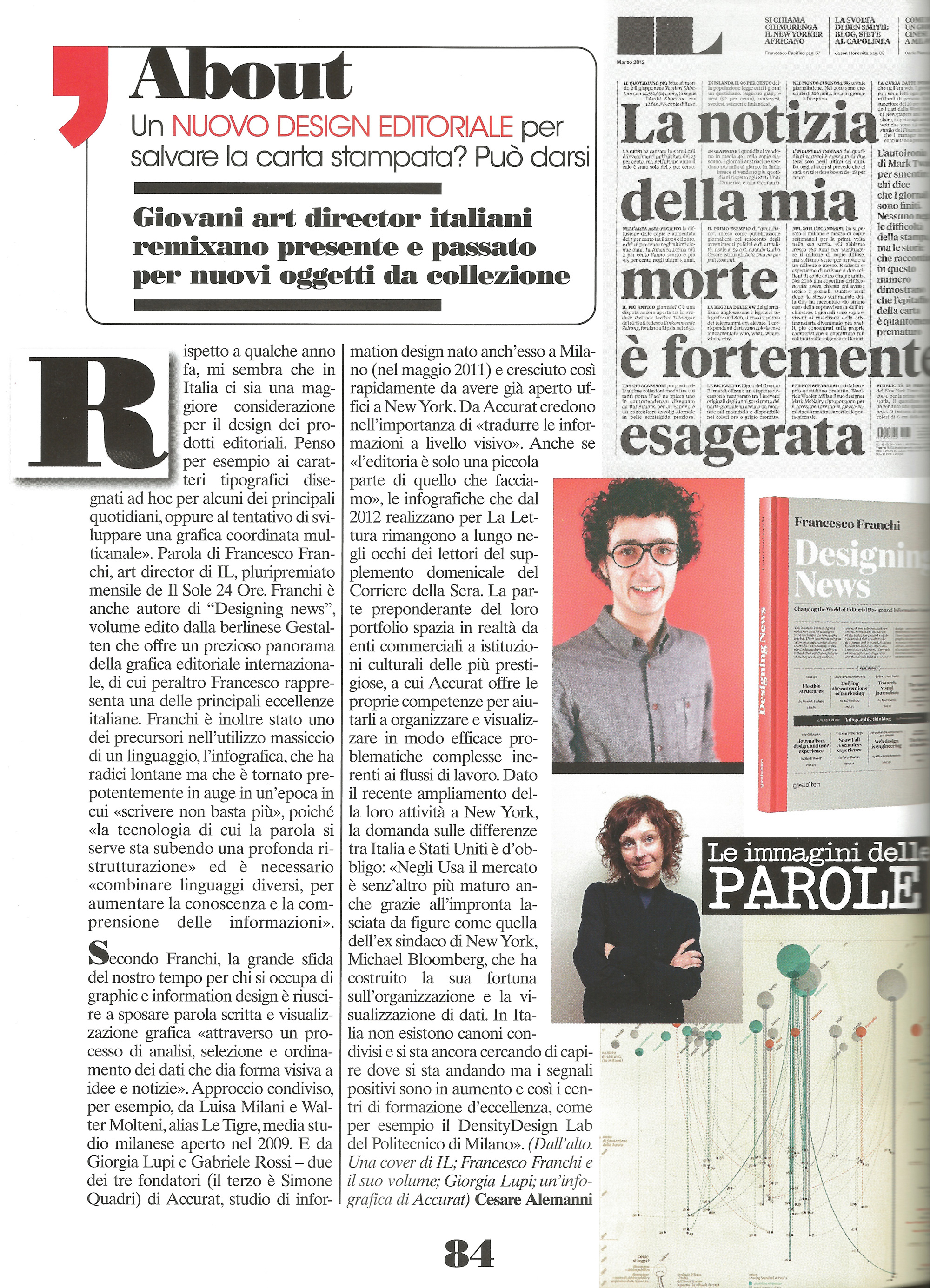 Francesco franchi designing news luomo vogue italy 01012014 designing news featured on luomo vogue un nuovo design editoriale per salvare la carta stampata fandeluxe